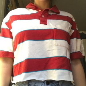 Tops - Stripped polo shirt
